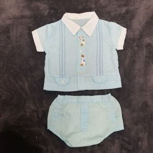 Vintage 2-Piece Baby Boy Outfit